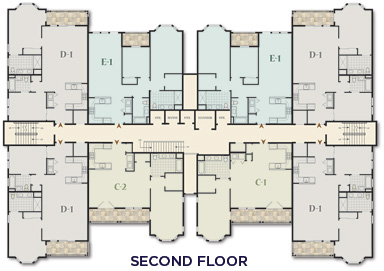 The Club at Melville - Second Floor - Floor Plan