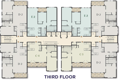 The Club at Melville - Second FloorThe Club at Melville - Third Floor - Floor Plan
